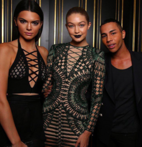 Olivier Rousteing -the Balmain designer, knows how to dress a woman. Understated, but you still get the point!