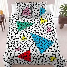 Terrazzo inspireret sengetøj fra 80érne.