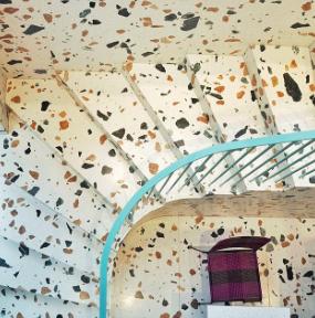 Det klassiske terrazzo gulv, her fra Fredesblog på Instagram.