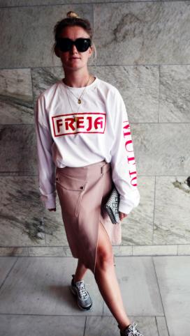 Muf10 bluse med Freja tryk. Foto: www.fredsblog.com